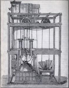 /Модель паровой установки [https://ru.wikipedia.org/wiki/Ползунов,_Иван_Иванович|И. И. Ползунова (1728—1766)].